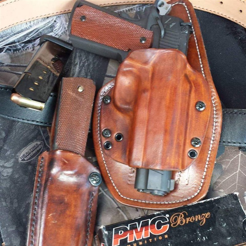 Adaptive Velcro Holster Leather Wrapped Rps Tactical